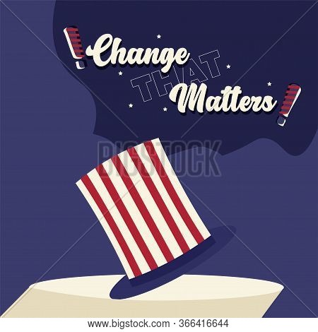 United States Elections Poster. Traditional American Hat - Vector