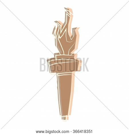 Isolated Torch Icon Oover A White Background - Vector