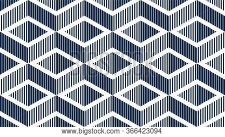 Seamless Cubes Vector Background, Lined Boxes Repeating Tile Pattern, 3d Architecture And Constructi