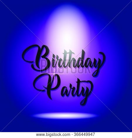 Birthday Party Poser Design Isolated Blue Background