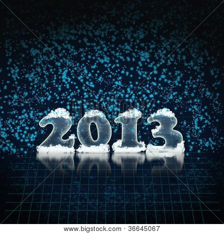 New Year's Background In 2013 In Dark Blue Colors