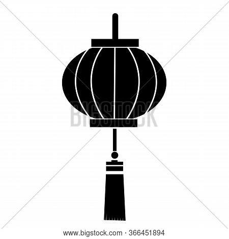 Chinese Lantern Icon On White Background. Flat Style. Chinese Lantern Festival Icon For Your Web Sit