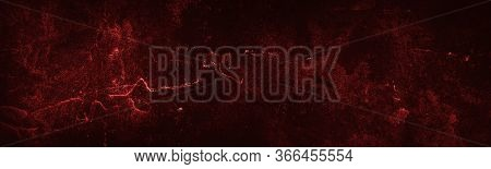 Abstract Grunge Red Dark Cement Wall Background. Old Chalkboard. Cement. Concrete With Rough Texture