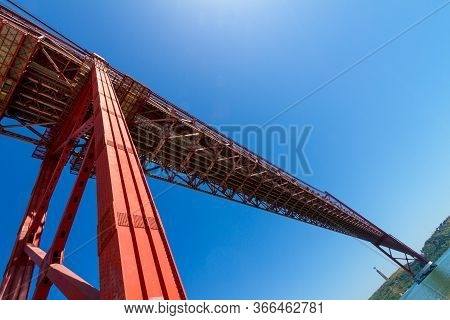 The 25 De Abril Bridge (ponte 25 De Abril) Is A Suspension Bridge In Lisbon, In Portugal. It Was Ina
