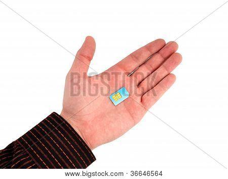 Sim Card In Hand