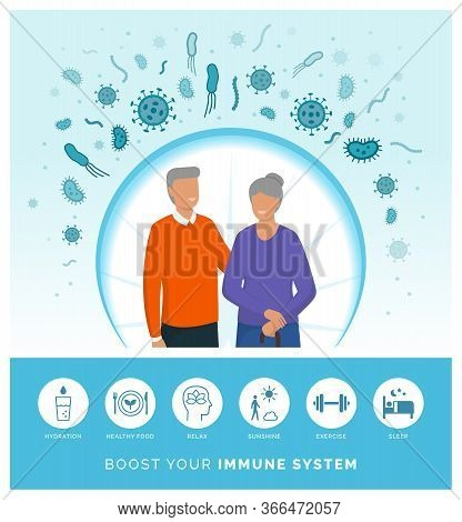 Seniors Boosting Their Immune System And Following A Healthy Lifestyle, They Are Protecting Themselv
