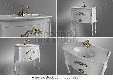 White wasbasin