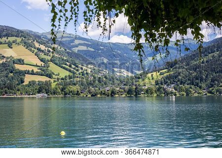 Zell Am See, Austria - June 20, 2018: View Of Zeller See On A Sunny Day