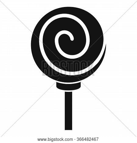 Sugar Lollipop Icon. Simple Illustration Of Sugar Lollipop Vector Icon For Web Design Isolated On Wh