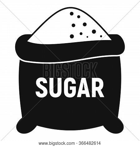 Open Sugar Sack Icon. Simple Illustration Of Open Sugar Sack Vector Icon For Web Design Isolated On