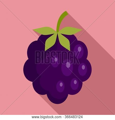 Forest Blackberry Icon. Flat Illustration Of Forest Blackberry Vector Icon For Web Design