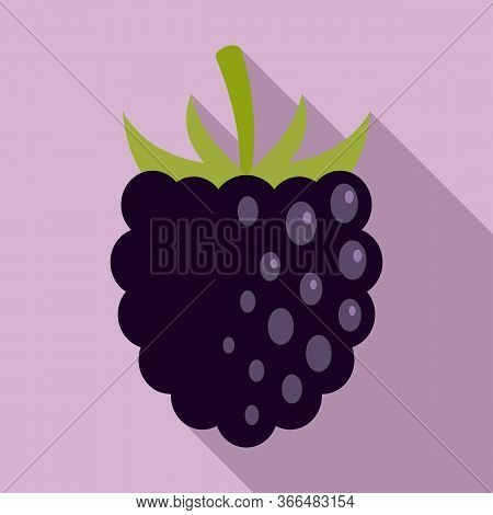 Rowan Blackberry Icon. Flat Illustration Of Rowan Blackberry Vector Icon For Web Design