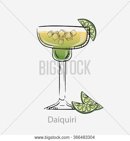 Daiquiri Cocktail. Cocktail, Alcoholic Cuban Aperitif Based