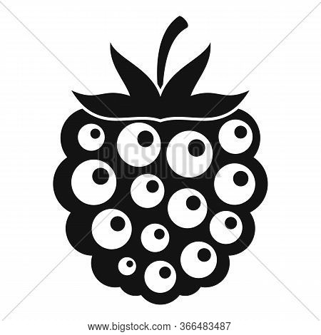 Food Blackberry Icon. Simple Illustration Of Food Blackberry Vector Icon For Web Design Isolated On