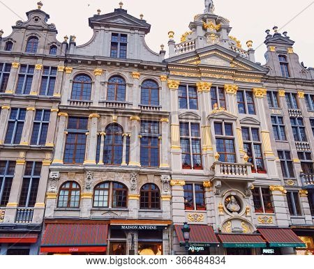 Brussels, Belgium Circa January, 2020: The Grand Place Square In Brussels, The Capital Of Belgium, F