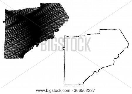 Douglas County, Georgia (u.s. County, United States Of America,usa, U.s., Us) Map Vector Illustratio