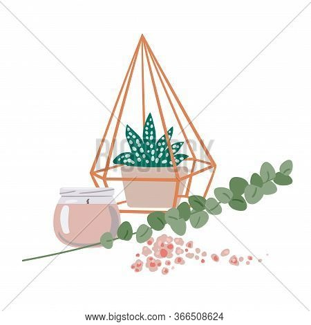 Aromatherapy And Devices And Means For Aromatherapy. Vector Illustration