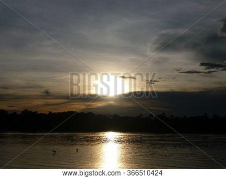 Sunset On The Zambezi River On The Zambia Side