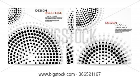 Brochure Template With Dotted Circles. Dots In Circular Form. Magazine, Poster, Book, Presentation,