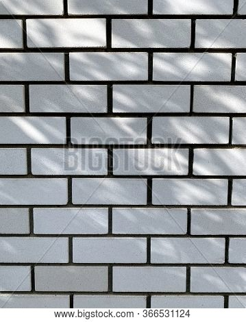 Brickwall Texture Background Or Backdrop With Stains And Cement Smears.