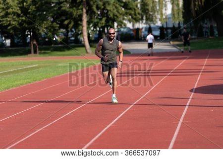 Man Run Training Outdoors
