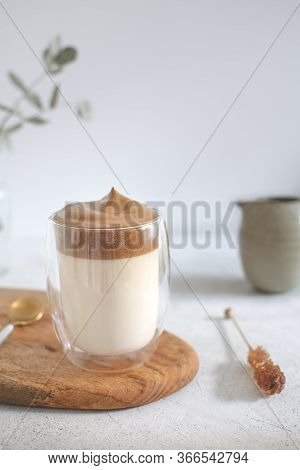 Trendy Korean Iced Dalgona Coffee, Whipped Instant Coffee Drink