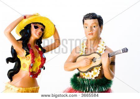Hula Woman And Performing Artist