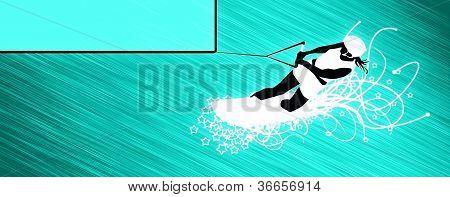 Kite And Wakeboard Bacground