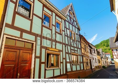 Picture Of A Scenic Street In Oberwinter, Germany
