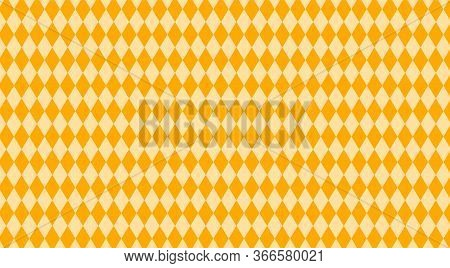 Orange Rhombus Pattern For Background, Geometric Diamond Orange For Backdrop, Rhombus Texture For Wa
