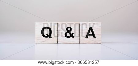 Q&a Word With Wooden Cube Block. Faq( Frequency Asked Questions), Answer, Question & Ask, Informatio