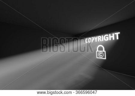 Copyright Rays Volume Light Concept 3d Illustration