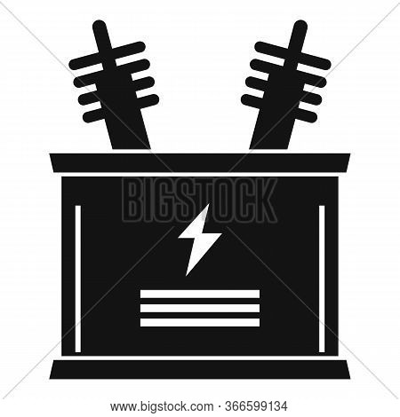 Electric Transformer Icon. Simple Illustration Of Electric Transformer Vector Icon For Web Design Is