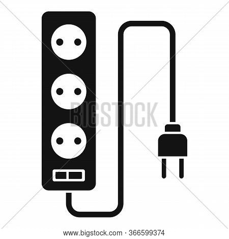 Electric Extension Cords Icon. Simple Illustration Of Electric Extension Cords Vector Icon For Web D