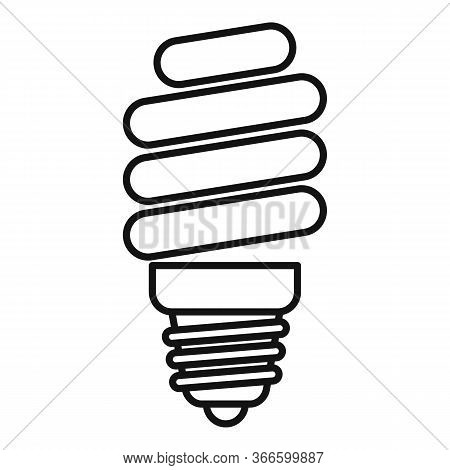 Led Bulb Icon. Outline Led Bulb Vector Icon For Web Design Isolated On White Background