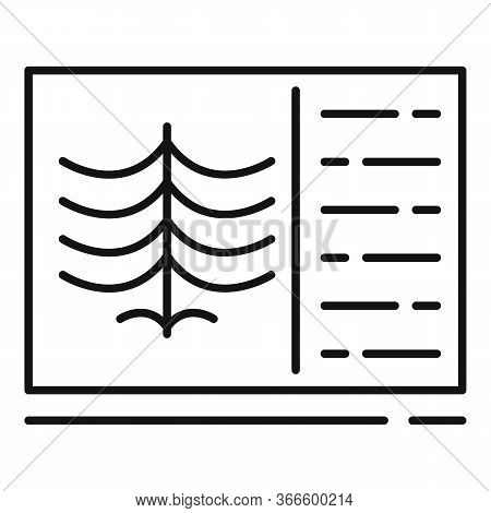 Xray Lungs Icon. Outline Xray Lungs Vector Icon For Web Design Isolated On White Background
