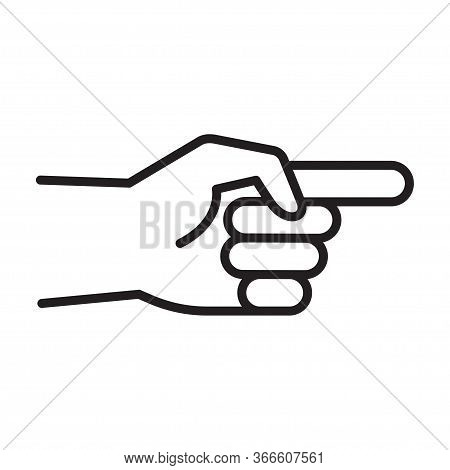 Hand Pointer. Hand Showing One Finger Or Counting One. Gesture Hand Of A Human Forefinger. Vector Il