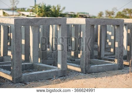 Artificial Cube Reef. School Of Fish And Artificial Cubed Reef. Coral Rehabilitation, Artificial Ree