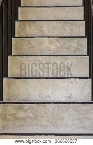 Concrete Steps.ladder Texture.cement Concrete Stair.abstract Modern Concrete Stairs To Building. Ste