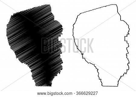 Fayette County, Georgia (u.s. County, United States Of America,usa, U.s., Us) Map Vector Illustratio