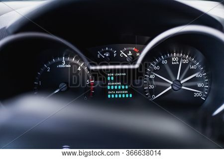 This Car Dashboard Auto Digital Fast Speed Meter Number Kilometer Km For Control Driving Console Ind