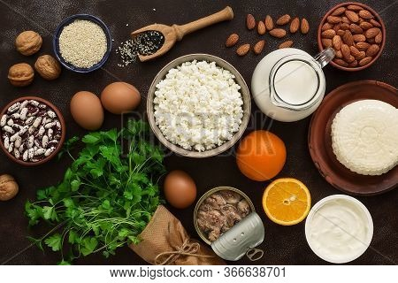 High Calcium Foods. Dairy Products, Beans, Sardines, Fruits, Nuts. Nutrition For The Prevention Of O