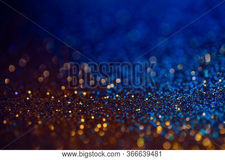 Festive Bokeh Glitters Background, Abstract Blurred Backdrop With Circles, Modern Design Overlay Wit