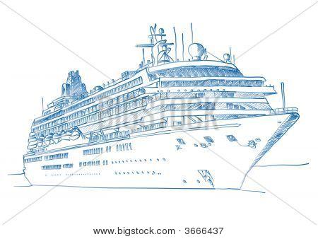 Sketched Cruiseship
