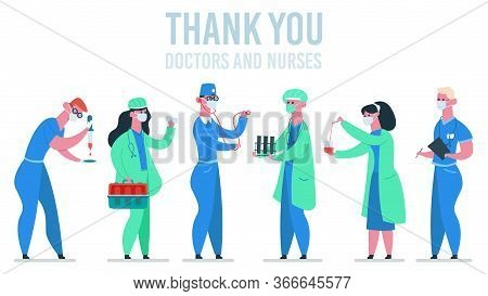 Medical Doctors. Medicine Physician, Doctor And Nurse In, Hospital Healthcare Physician Workers, Doc