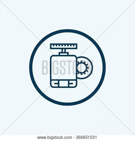 Electric Motor Icon Vector From Electrician Tools And Elements Collection. Thin Line Electric Motor