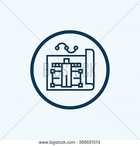 Plan Icon Isolated On White Background From Risk Management Collection. Plan Icon Trendy And Modern