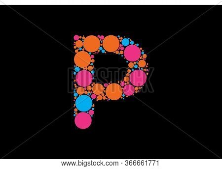 Abstract Letter P Logo Design With Colorful With Creative Modern Trendy
