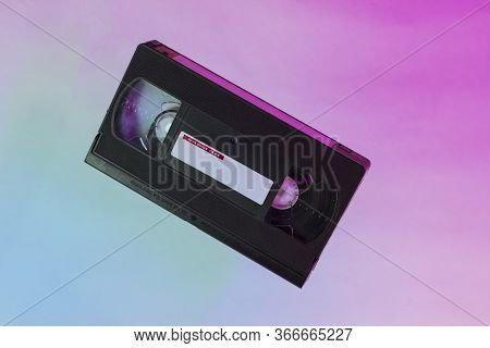 Video Tape On Background. Vhs Video Tape