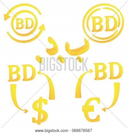 3d Bahraini Dinar Currency Of Bahrain Symbol Set Icon Vector Illustration On A White Background